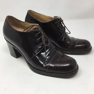 Gucci | patent leather oxford heels oxblood